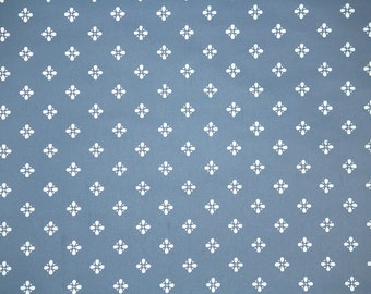 Retro Wallpaper by the Yard 80s Vintage Wallpaper – 1980s Blue and White Geometric