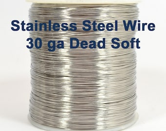 30ga Stainless Steel Wire - Dead Soft - Choose Your Length