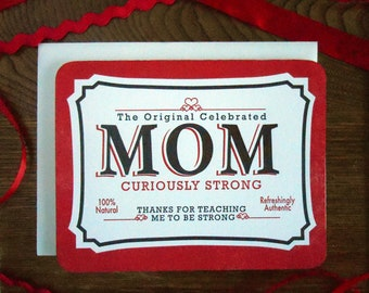 vintage mom tin curiously strong mom thanks for teaching me to be strong refreshingly authentic 100% natural