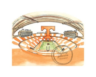 University of Tennessee Stadium print