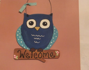 Owl Welcome - Wall Hanging