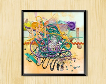 Art and Freedom - Instant Downloadable Art Print Digital Wall Art Printable Art Home Decor