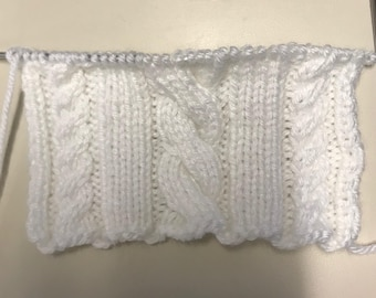 Twisted Cable Knit Pattern for Scarf