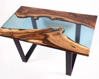 Live edge walnut coffee table - AVAILABLE