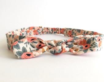 Rifle Paper & Co - Rosa in Peach Retro Headband