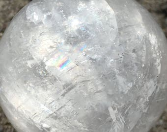 Natural Rainbow Quartz Crystal Ball