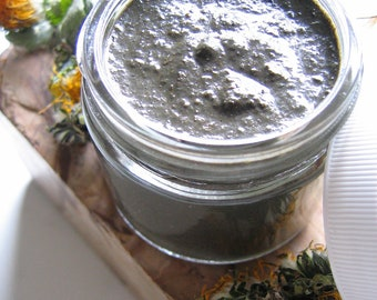 Deep Cleansing Raw Honey Mask with Hand Harvested Glaciomarine Clay, Pure Essential Oils, and Wild Harvested Herbs - Custom Made