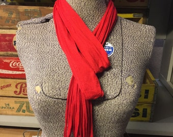 Plain Jersey Scarf - Red