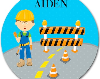 Personalized Dinnerware - Construction Plate - Look Alike - Children's Gifts