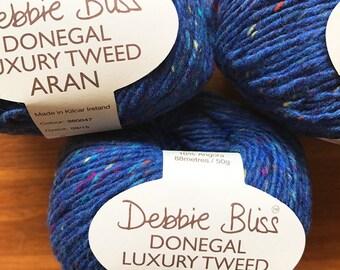 Debbie Bliss - Donegal Luxury Tweed Aran - One ball of wool (50 grams) - Pool - Colour: 360047