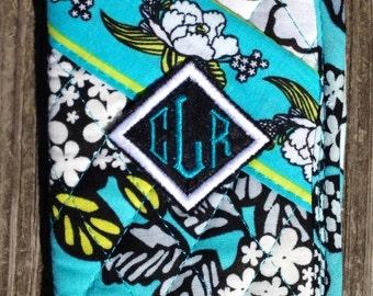 "Custom Embroidered Diamond Monogram Patch *set of two* Iron on Sew on Glue on 2x2"""