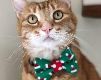 Santa Hat Bow Tie- Cats and Dogs