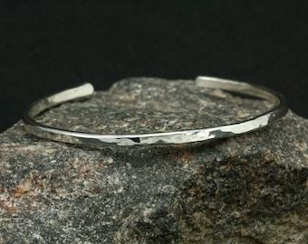 Hammered Sterling Silver Cuff Bracelet, Skinny Cuff, Silver Bracelet, Hammered Silver Cuff, Hammered Bracelet, Hammered Cuff