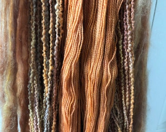 Mountain color yarns - warm and wooly throw kit haystack
