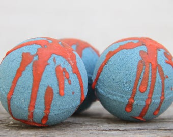 Bath Bombs, Bath Fizz, Blue Volcano Bath Bombs, Gifts For Kids, Party Favors, Birthday Gifts, Party Favors, Home and living