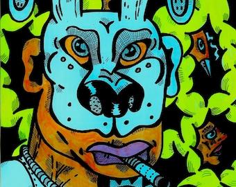 Dog Mask Print