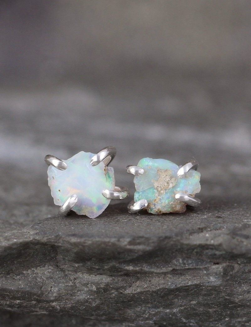 Pair of raw opal studs from A Second Time