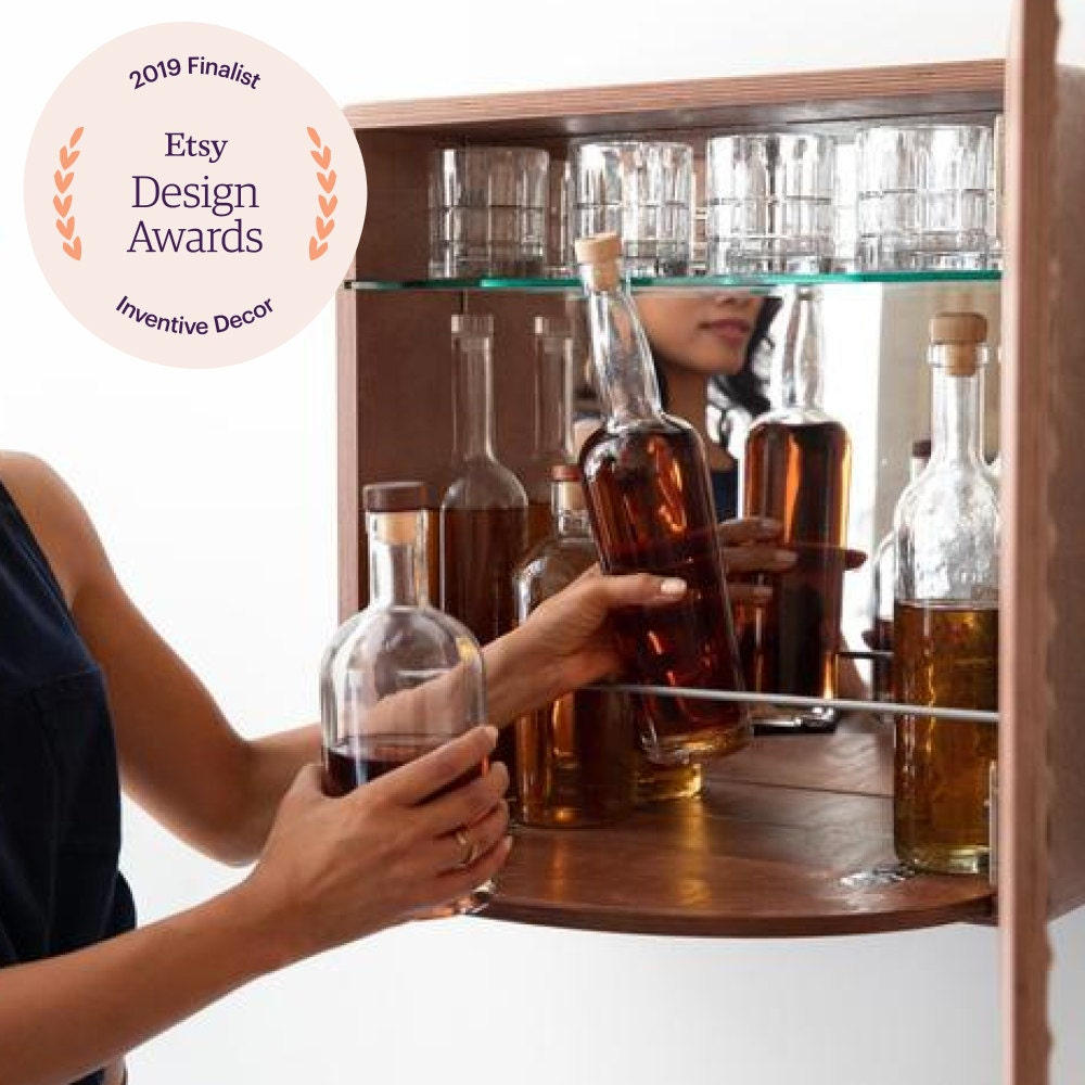 A floating cocktail cabinet from KARVD