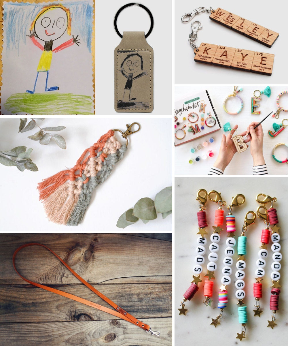 Keychains, lanyards, and other back-to-school supplies from Etsy