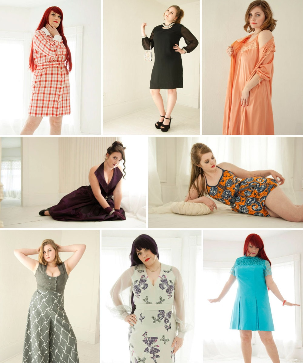 Plus-size vintage clothing from Roselein Rarities