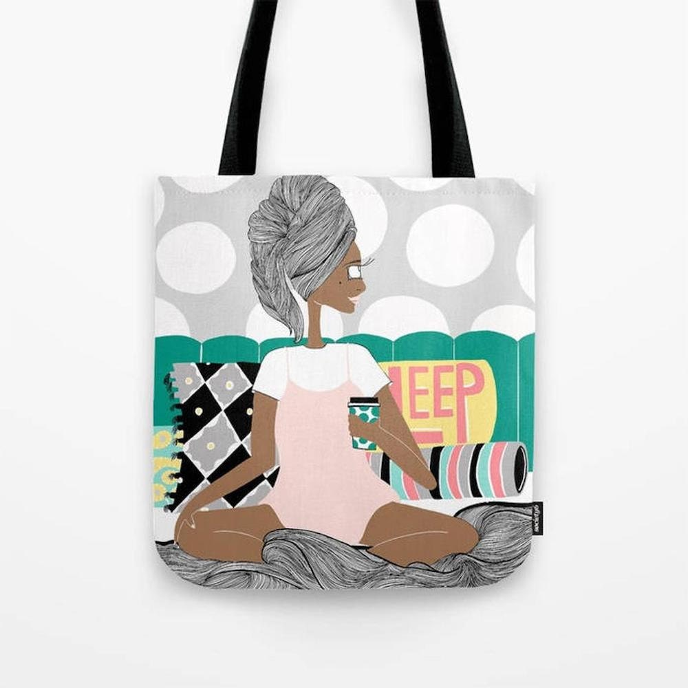 Breakfast in Bed tote bag from Lovely Earthlings