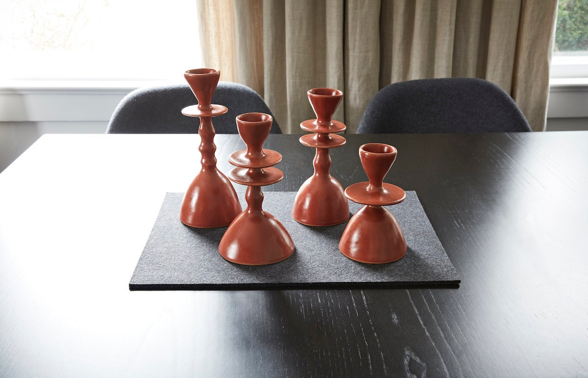 Altuzarra x Etsy candle holders from Madgesmuse, $475 for set of four