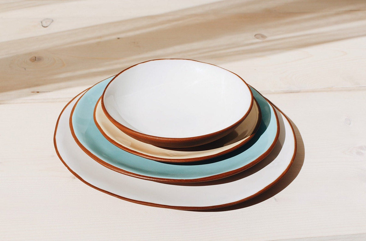 Four plates stacked on top of each other