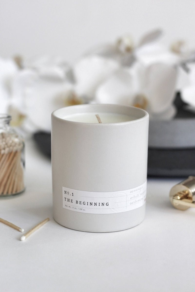 No. 1: The Beginning candle from Aerangis on Etsy