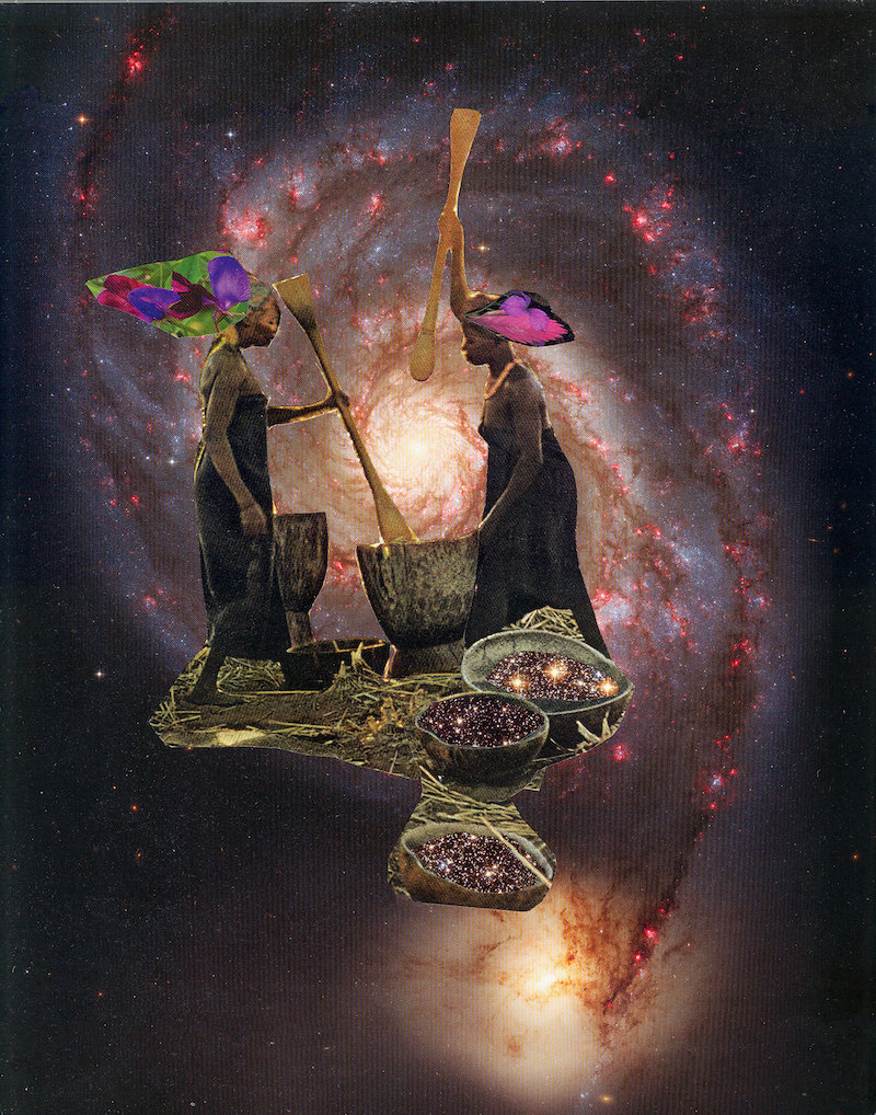 """""""Pounding the Universe into Shape"""" print from Mirlande"""