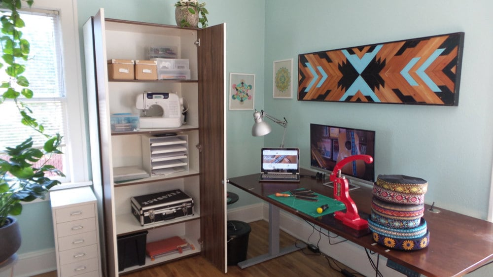 Sarah's studio awaits activity