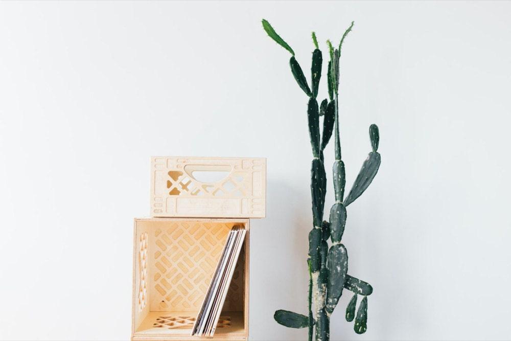 Stackable wooden storage crates from WAAM Industries