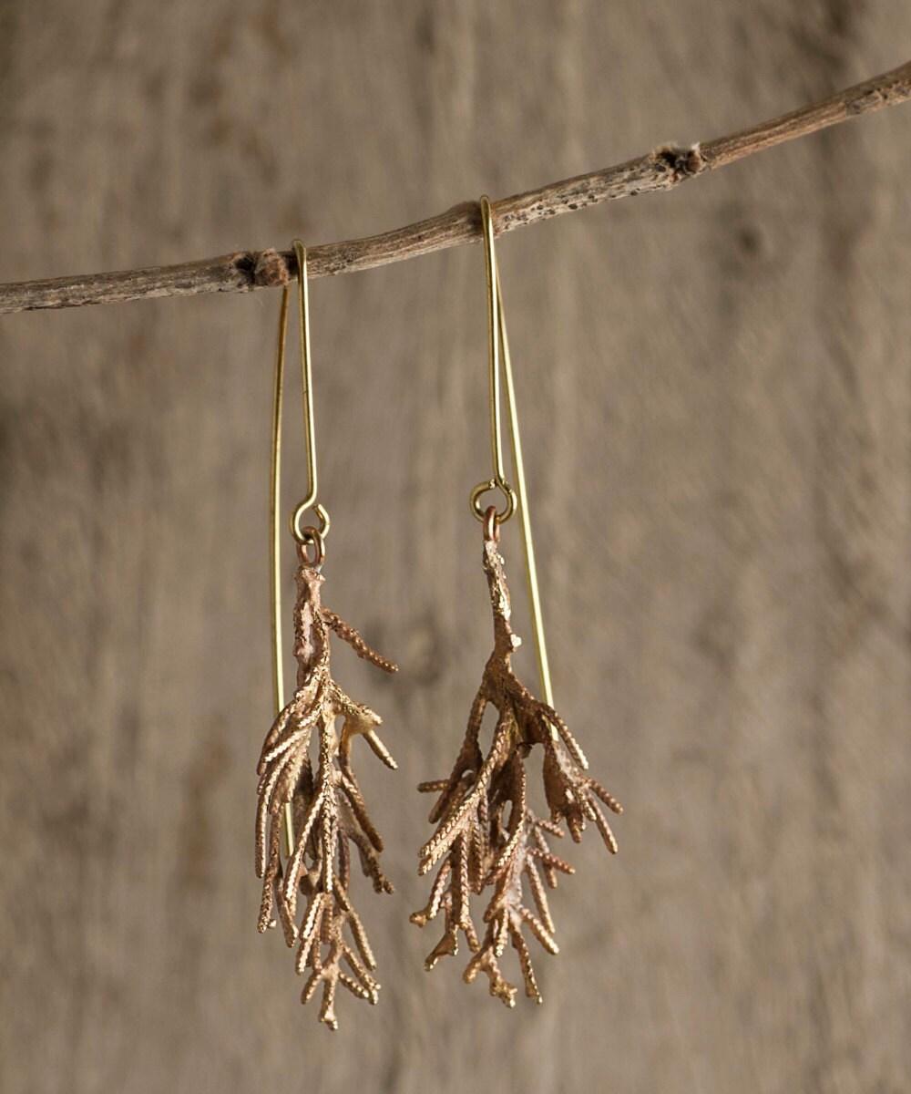 Cypress branch earrings from Mai Solorzano