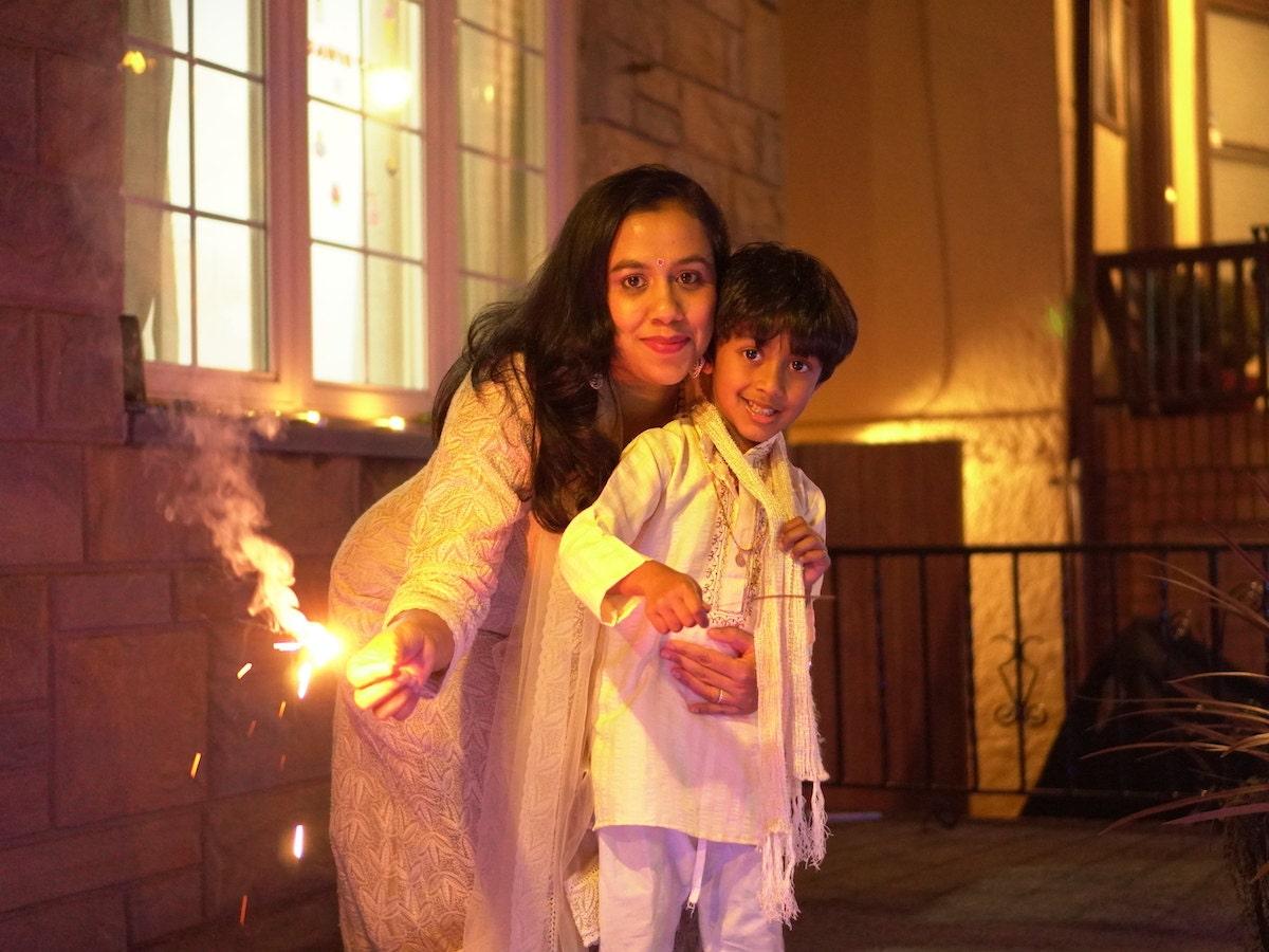 Etsy's Rachana Kumar with her son