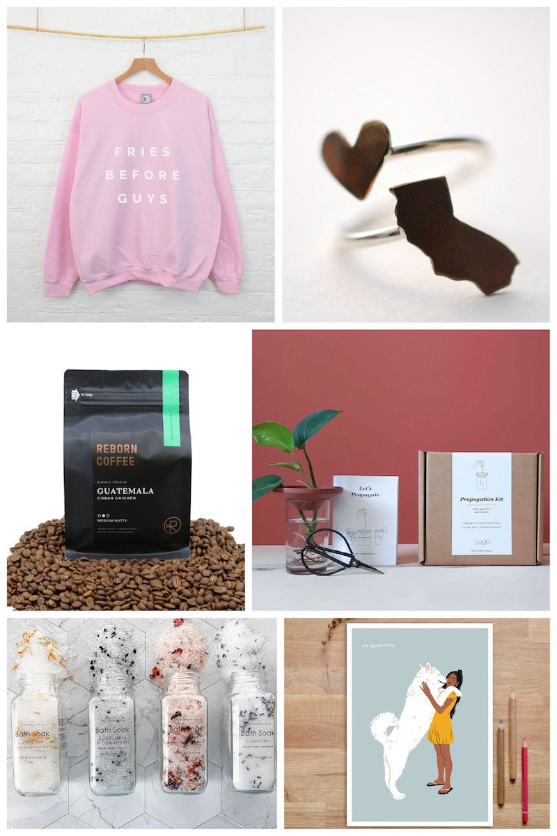 Valentine's Day gifts for friends, community, and other non-traditional loved ones from Etsy