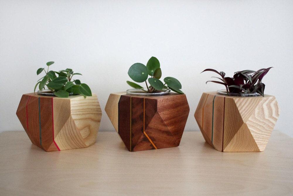 A trio of geometric planters from AdrianMartinus
