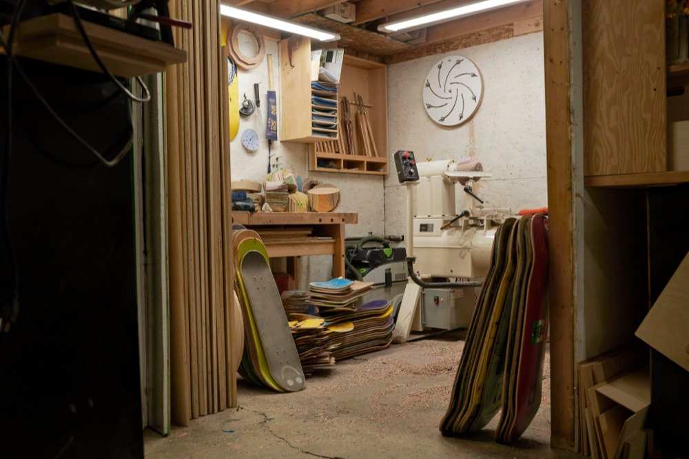 The AdrianMartinus woodworking shop in Calgary, Canada