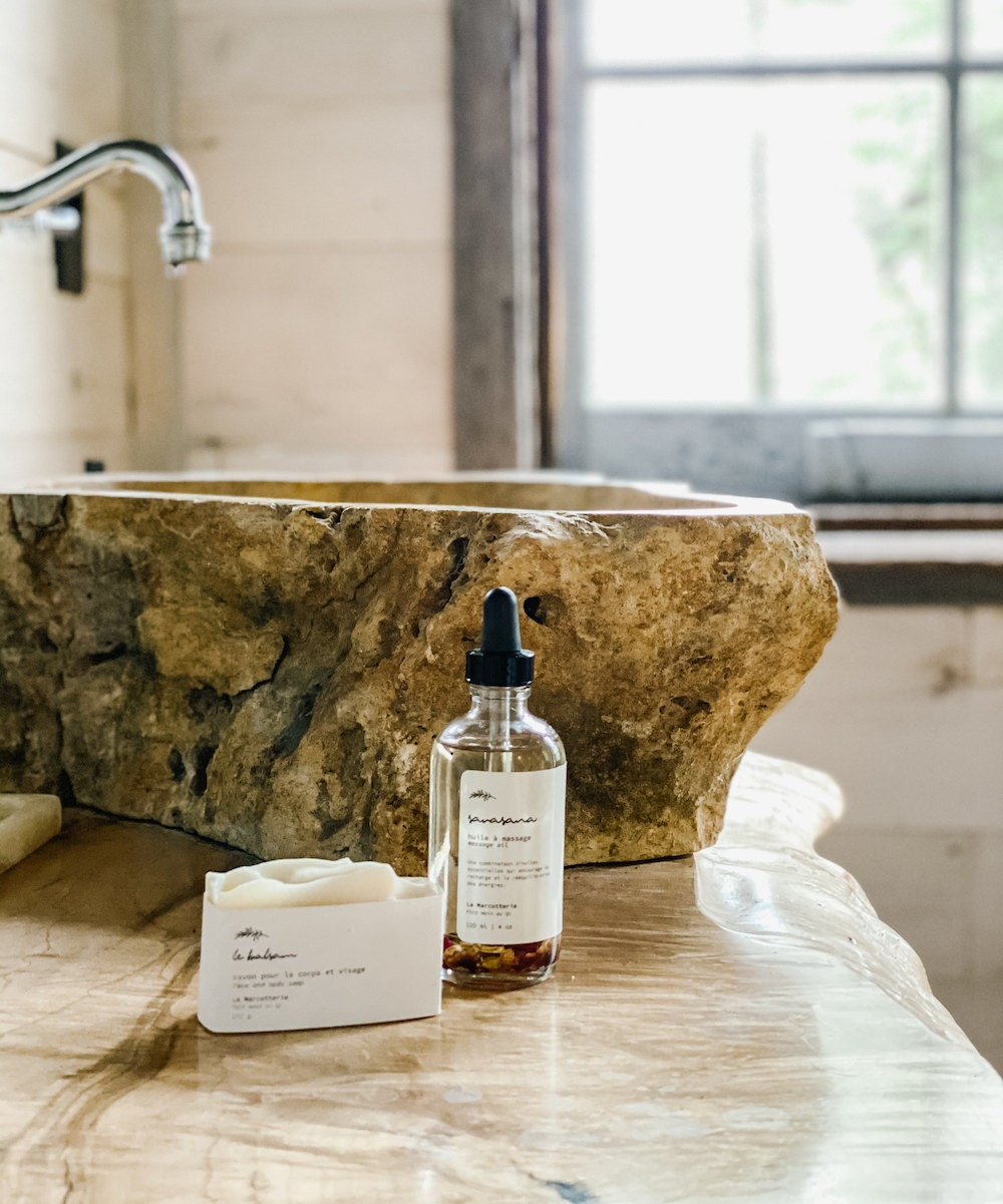 Natural soap and massage oil from La Marcotterie
