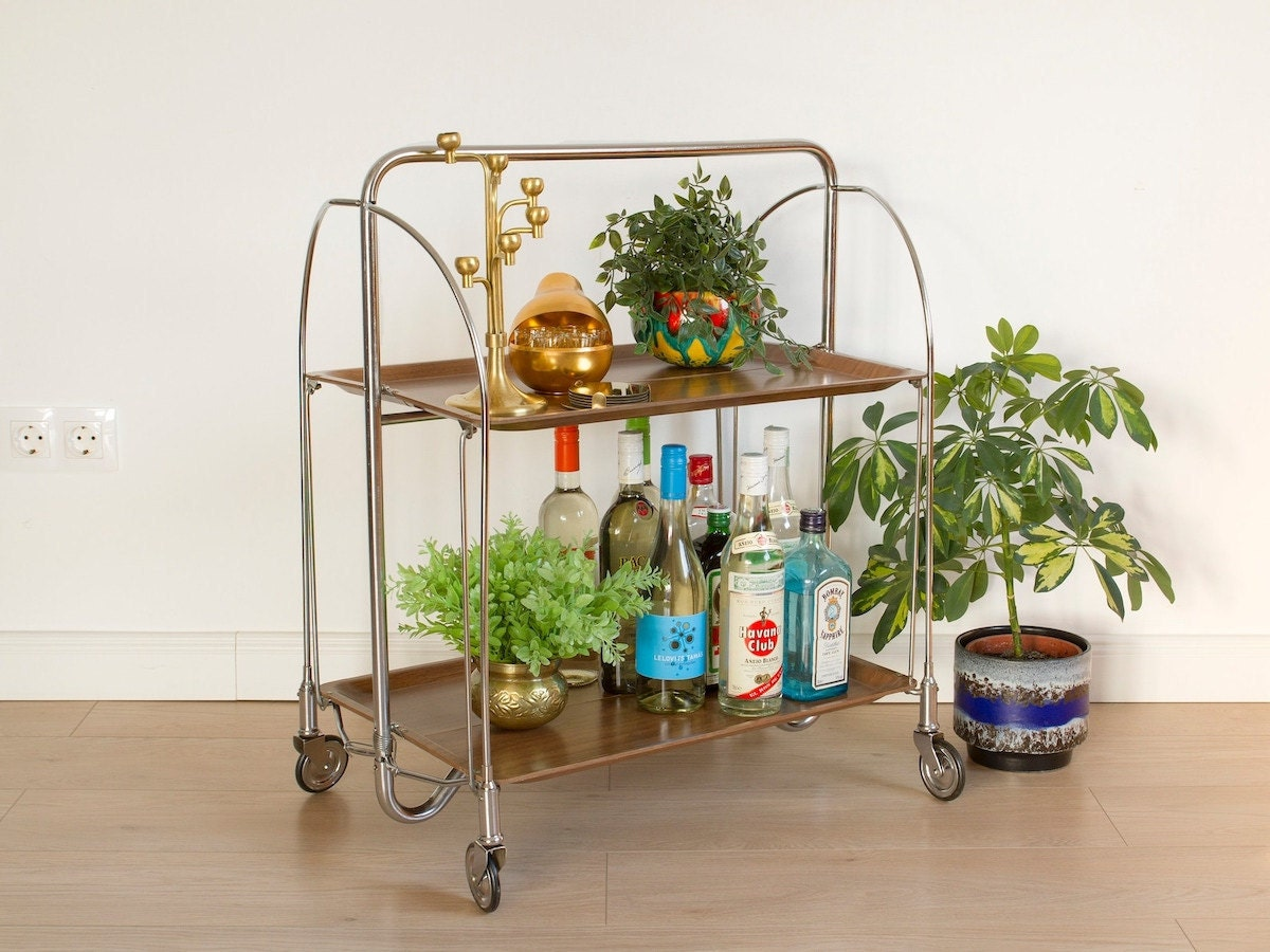 Vintage bar cart from Etsy