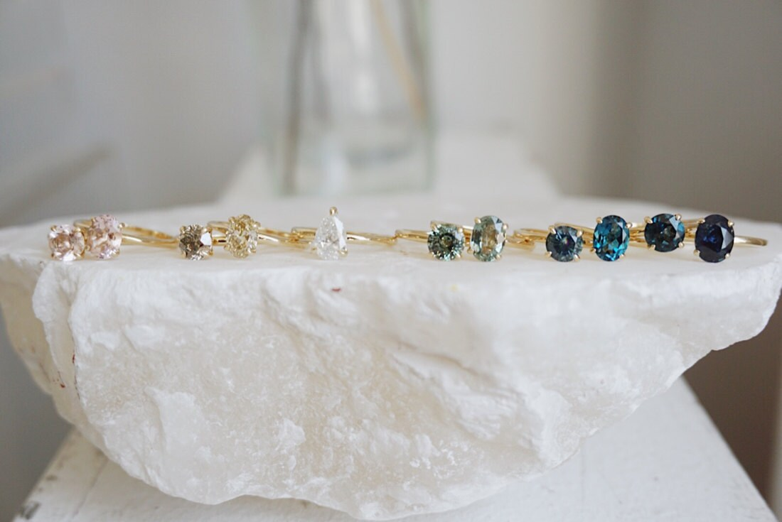 A colorful selection of fine gemstone rings from Foe & Dear.