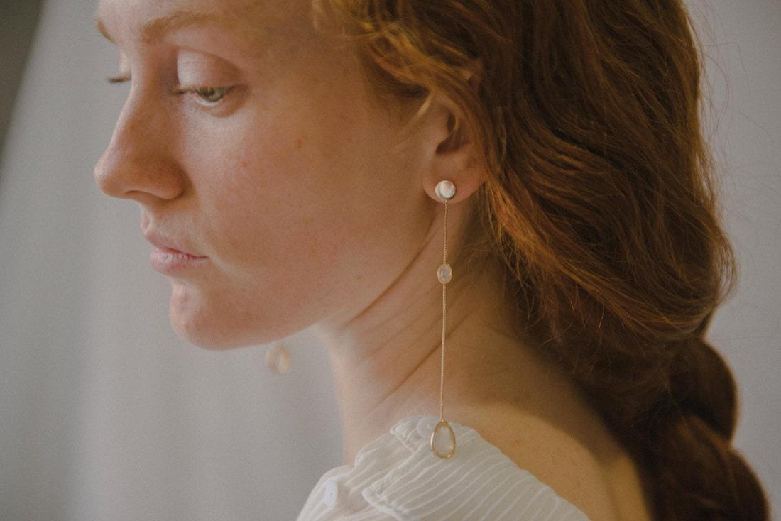 Eden drop earrings from Foe & Dear
