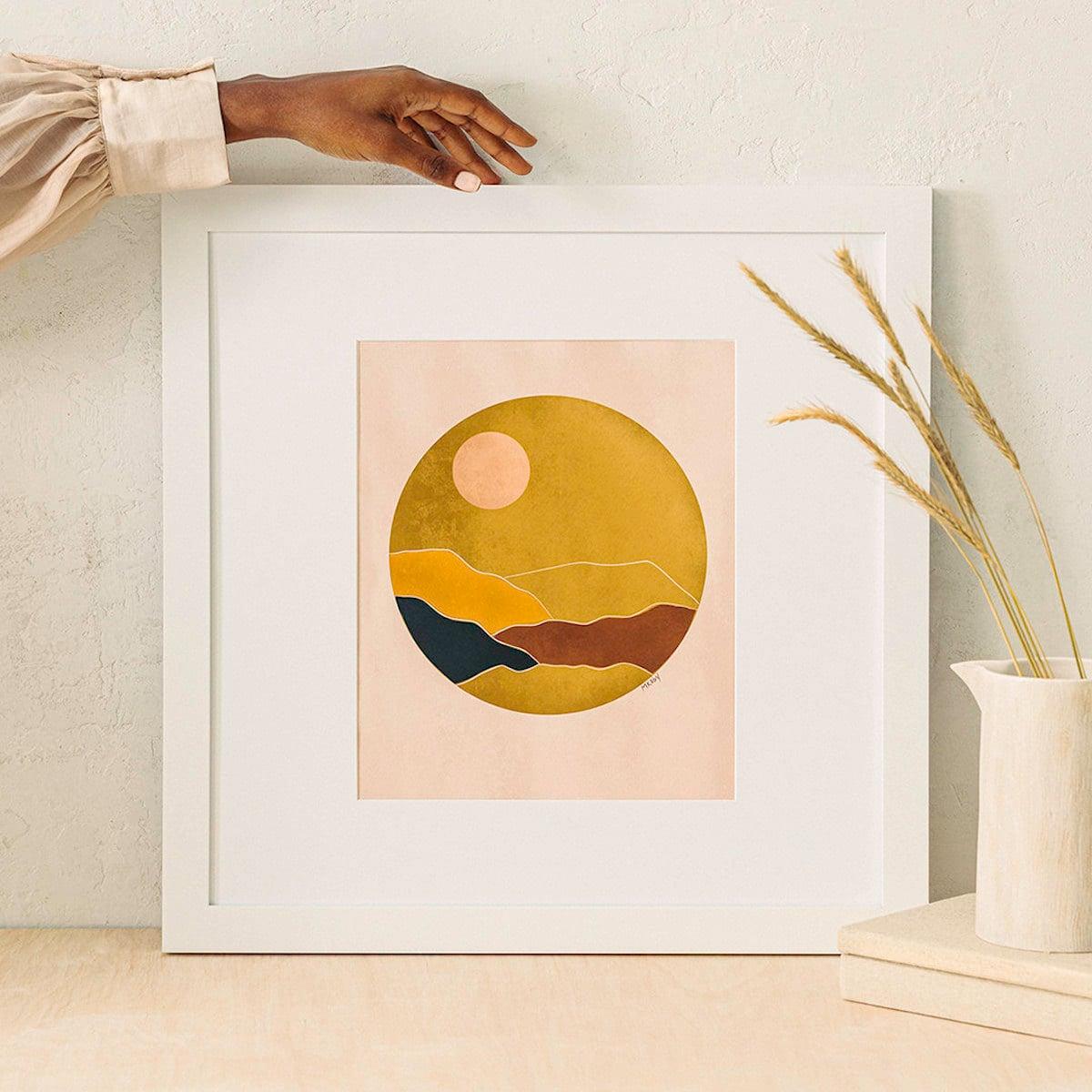 """Sunset"" print from M. Koby Art"