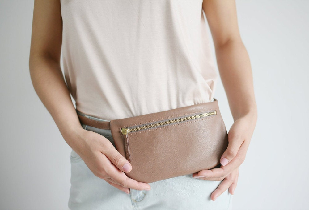 Mini fanny pack from Alex Bender in toffee