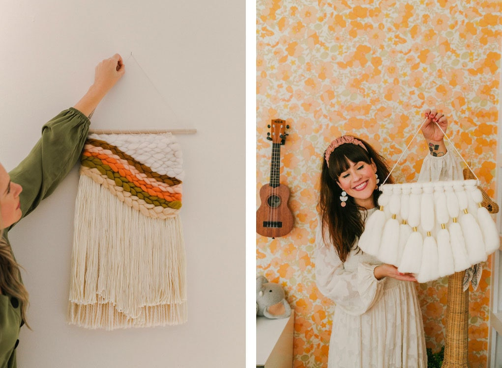 Wall hangings from the A Beautiful Mess x Etsy collection