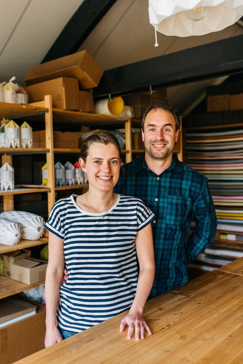 Portrait of Kenneth Veenenbos & Nellianna van den Baard in their studio