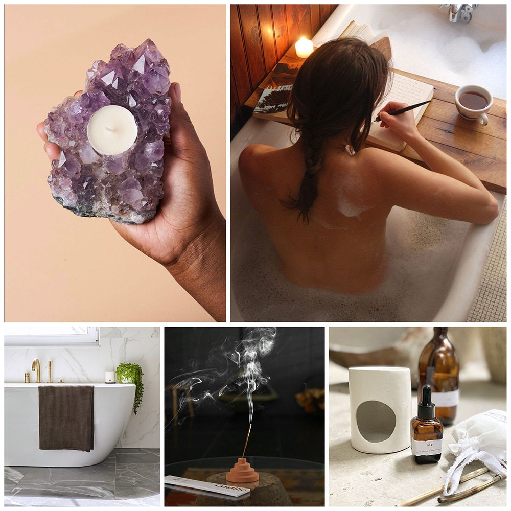 A collage of spa items for your home