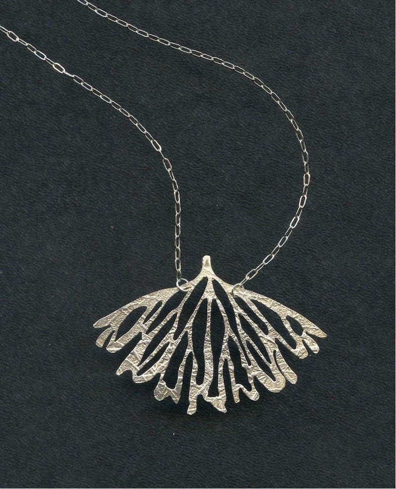 Silver wing pendant necklace from Lingua Nigra