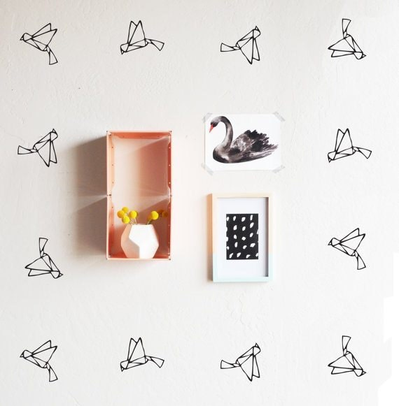 thelovelywall-origami-birds