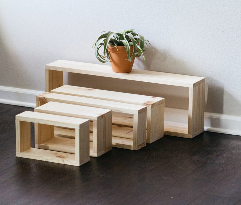 Assorted floating shelves (various sizes) from TheCraftySwirl, from $25