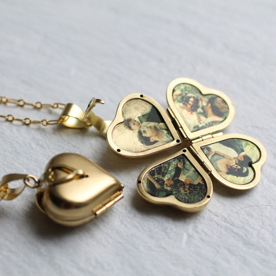 Personalized photo locket from Silk Purse, Sow's Ear
