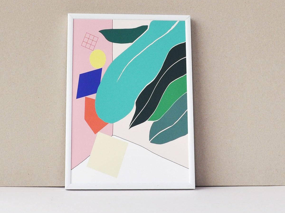 Colorful botanical print from Hej & Hello Creative